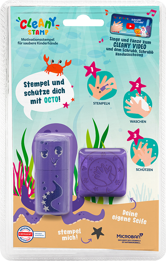 Packaging Octo Cleany-Stamp